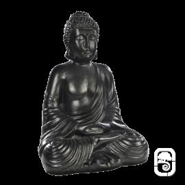 Statue Bouddha hindou béton ciré noir