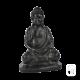 Statue Bouddha sur socle béton ciré noir