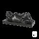 Statue Petit Bouddha couché béton ciré noir