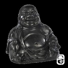 Statue Bouddha Chinois béton ciré noir