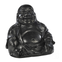 Statue Bouddha Chinois béton ciré noir - H 28cm