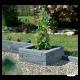 Bordure de jardin en pierre reconstituée ton gris