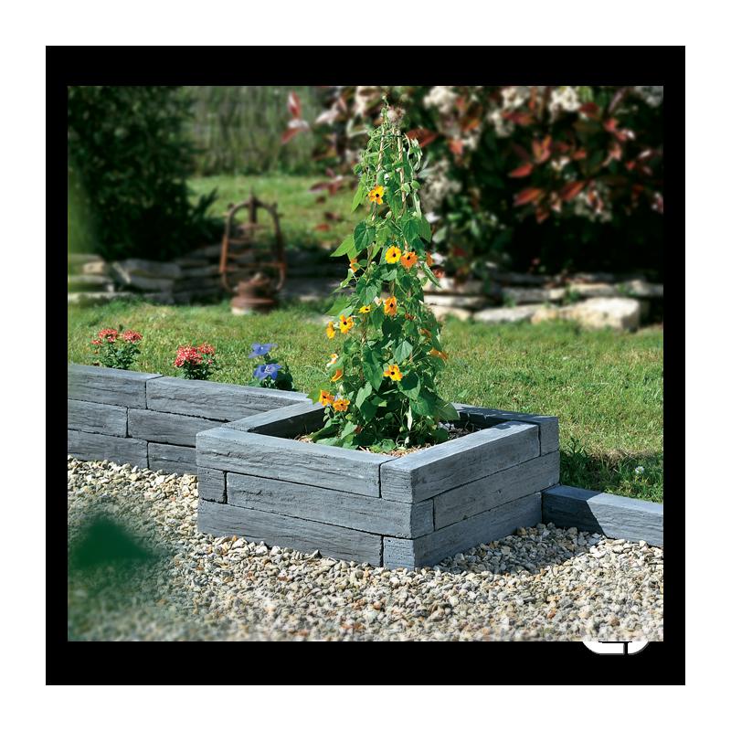 Bordure schiste ton ardoise 50 5 cm - Bordure jardin ardoise ...