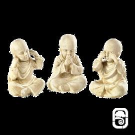 Trio Petits Moines - H 23cm