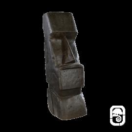 Moaï béton ciré noir - H 80cm