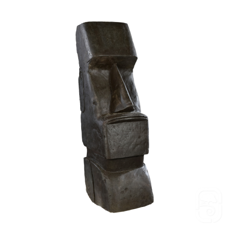 Moaï béton ciré noir