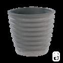 Pot cannelé 283 Nova anthracite - Ø 34cm