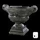 Vase renaissance béton ciré noir
