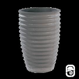 Vase cannelé 280 Nova anthracite - 36X52cm