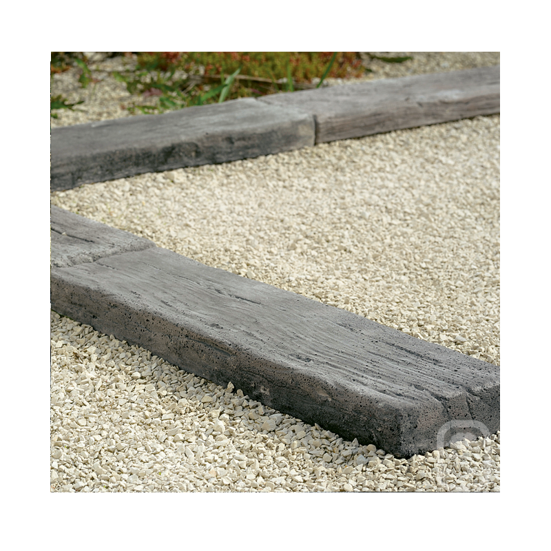 Bordure plate aspect bois vieilli 54 cm - Jardinoa.fr