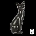 Sculpture Grand chat déco noir - H 58cm