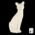Sculpture Grand chat déco blanc - H 58cm
