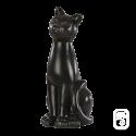 Sculpture Chat déco Noir - H 42cm