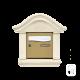Boîte aux lettres doucine en pierre reconstituée ton blanc