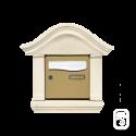 Encadrement pour boîte aux lettres doucine en pierre reconstituée ton blanc (4 éléments)