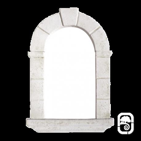 Niche en pierre reconstituée ton blanc