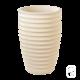 Vase cannelé 280 Nova blanc - 36cm