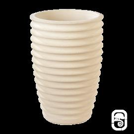 Vase cannelé 280 Nova blanc - 36X52cm