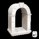 Niche en pierre à encastrer ton blanc - H 70cm