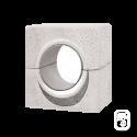Oeil de boeuf blanc à encastrer - 80 cm