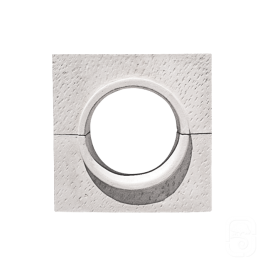 Oeil de boeuf blanc à appliquer - 80 cm