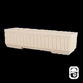 Jardinière 588 marbre blanc cannelée