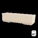 Jardinière 588 marbre blanc cannelée - 75cm