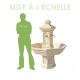 Fontaine en pierre Adonis