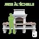 Barbecue en pierre reconstituée Mons à 2 tables