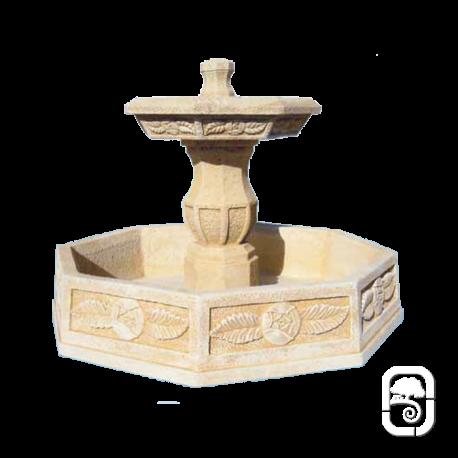 Fontaine centrale en pierre atenea ton ocre - Fontaine d exterieur en pierre ...