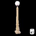 Lampadaire Luna béton ocre - H 228cm