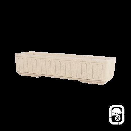 Jardinière 688 marbre blanc cannelée - 100cm
