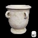 Pot ancien avec anse ton pierre vieillie - H 62cm