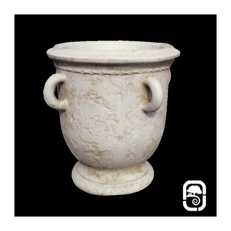 Pot ancien avec anse ton pierre vieillie h 62cm - Ptz ancien avec travaux ...