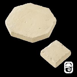 Dallage Tomette et cabochon ton pierre ciré - 1m²