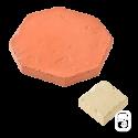Dallage Mixte Tomette Terre cuite et Cabochon Pierre ciré - 1m²