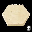Tomette Hexagonale ton pierre ciré - 1m²