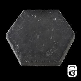 Tomette Hexagonale ton ardoise ciré - 1m²
