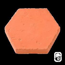 Tomette Hexagonale ton terre cuite ciré - 1m²