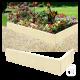 Bordure de jardin en béton blanc