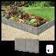 Bordure de jardin en béton gris
