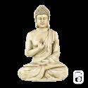 Statue Bouddha Hindou Assis ton vieilli - H 40.5cm