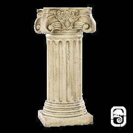 Colonne corinthienne ton pierre vieillie - H 76cm