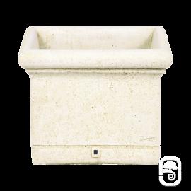 Bac carré lisse PJ45 ancien - 44cm