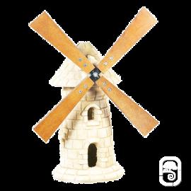 Moulin à roue en pierre vieillie - H 56cm