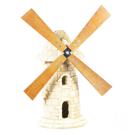 Moulin à roue en pierre vieilli - H 56cm