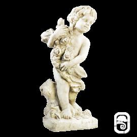 Enfant aux roses - H 65 cm