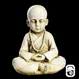 Statue Jeune moine assis - H 25cm