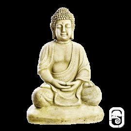 Statue Bouddha sur socle - H 38cm