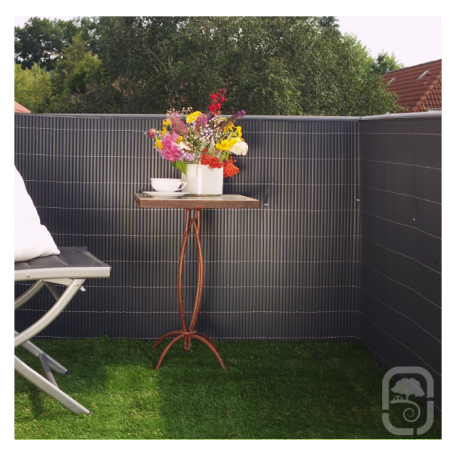brise vue pvc rugen anthracite 90 x 300cm. Black Bedroom Furniture Sets. Home Design Ideas